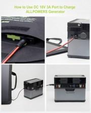 Солнечное зарядное устройство для ноутбука Allpowers 50 Watt ZIP