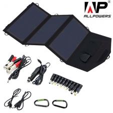 Портативная солнечная батарея Allpowers 21 Watt (USB+DC 9-18V)
