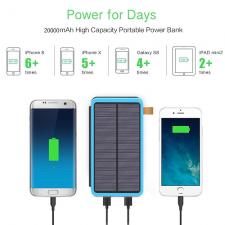 Солнечное зарядное устройство Allpowers 20000 (6 Watt) blue