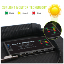 Портативная солнечная батарея Allpowers 21 Watt (10000 mAh)